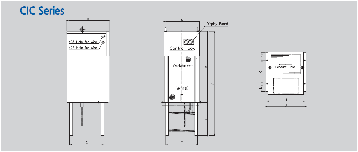 chiller CIC 1501 dimensions drawing